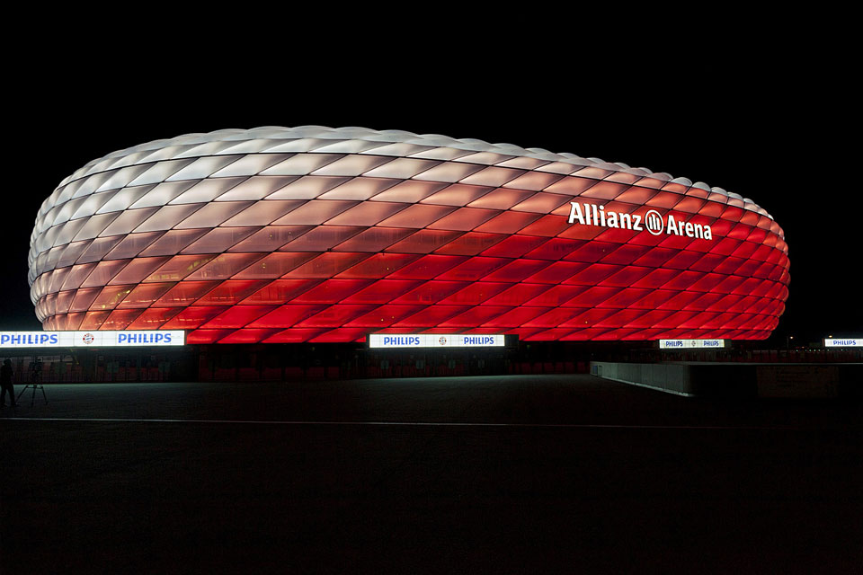 Allianz Arena Munich Bavaria Germany Color Kinetics