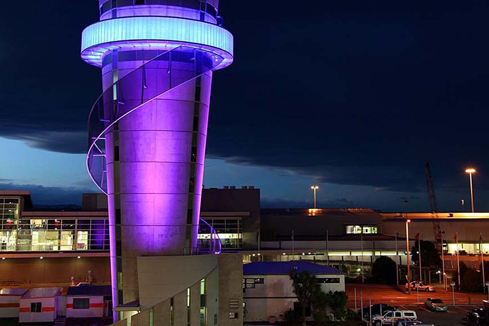 Christchurch International Airport Air Traffic Control Tower
