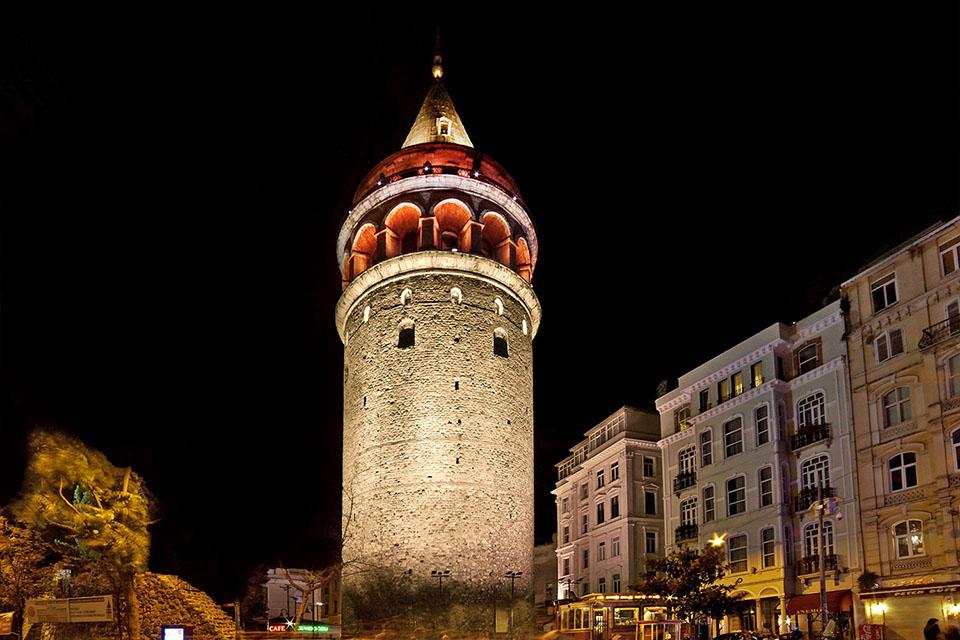 Galata Tower Istanbul Istanbul Turkey Color Kinetics