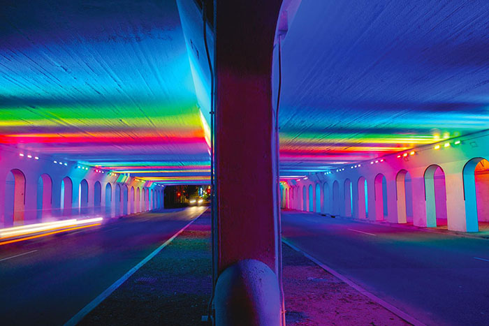 LightRails: An Artistic Lighting Installation