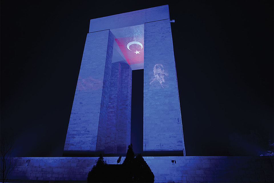 Canakkale Martyrs Memorial Canakkale Turkey Color Kinetics - The-martyr-lamp-an-energy-saver-project