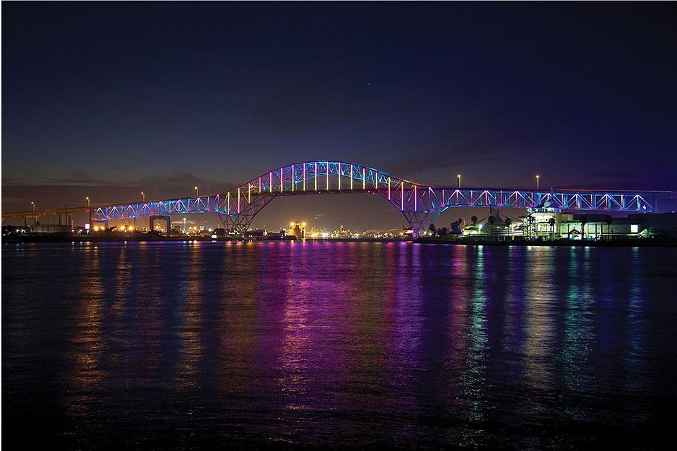 Corpus Christi Harbor Bridge Corpus Christi, Texas, USA | Color Kinetics
