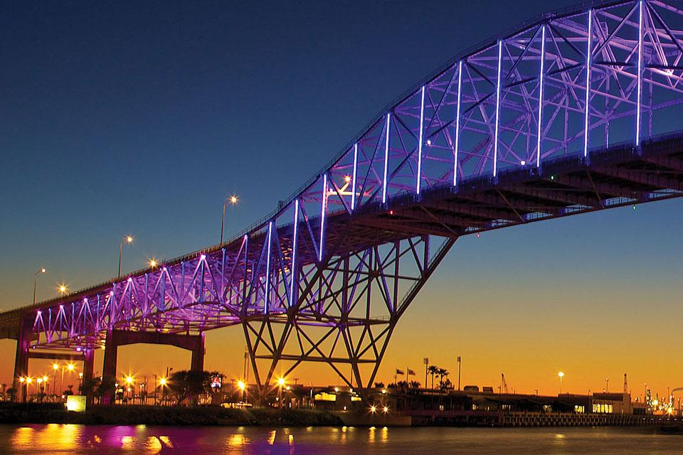 Corpus Christi Harbor Bridge Corpus Christi, Texas, USA   Color Kinetics