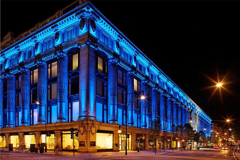 Selfridges London England United Kingdom Color Kinetics